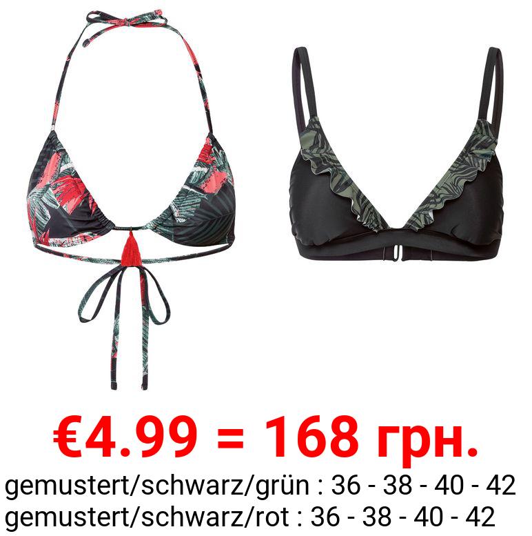 ESMARA® Triangel Bikini Oberteil Damen, mit Elasthan