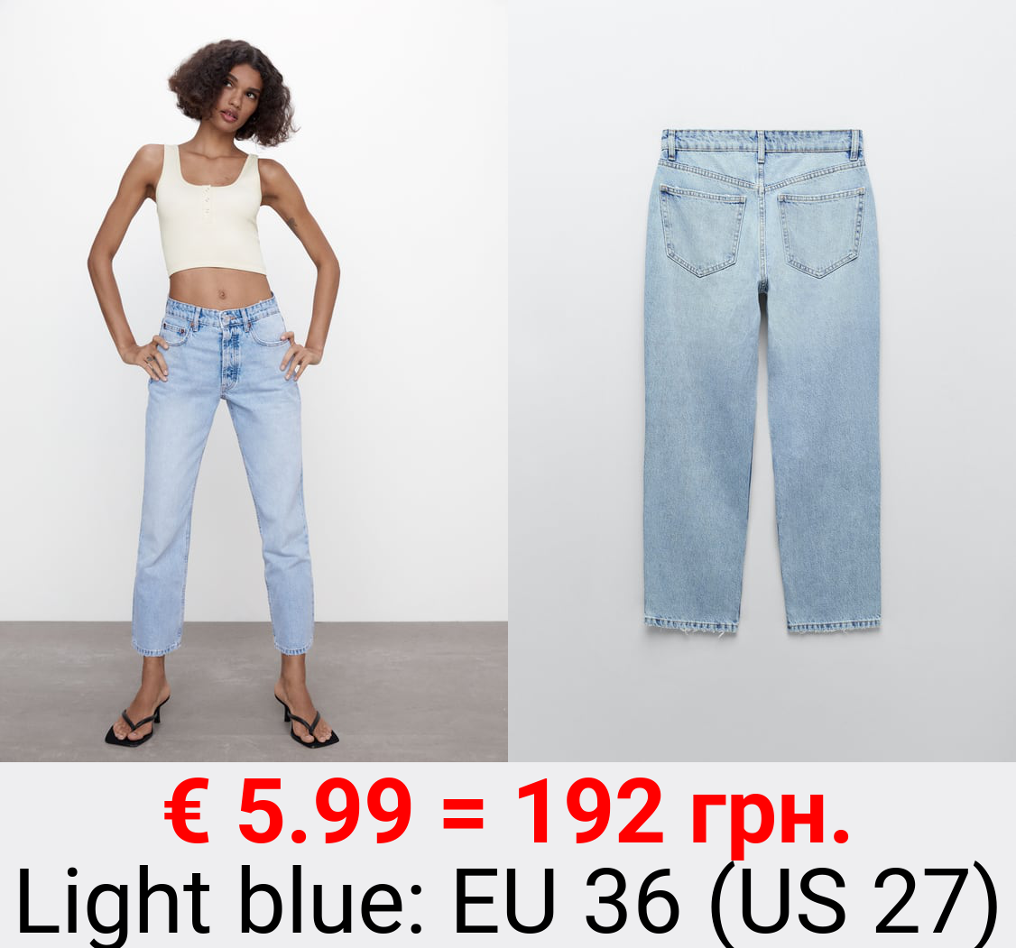 MID-RISE ANKLE STRAIGHT JEANS