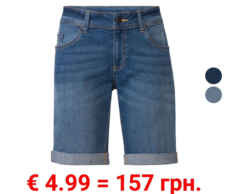 ESMARA® Jeansshort Damen, in modischer Krempeloptik