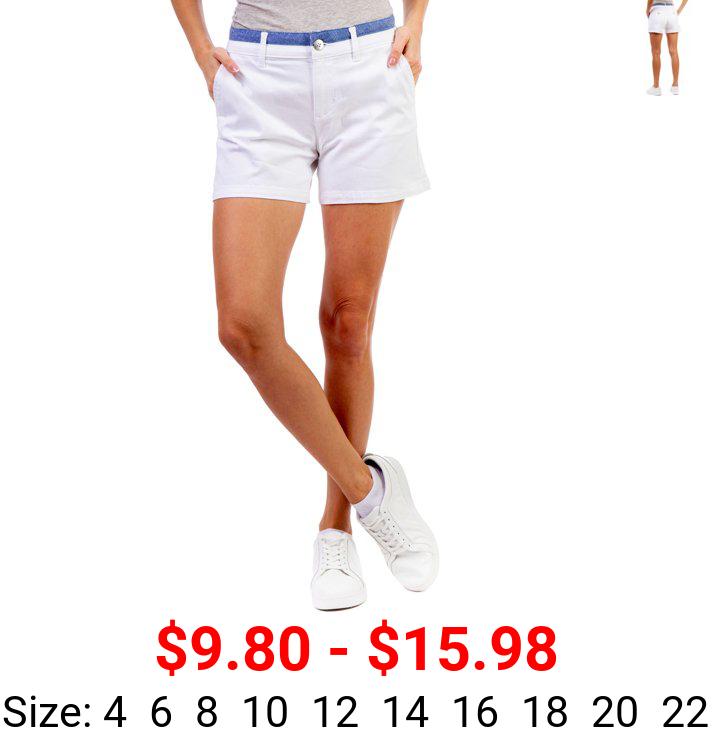 U.S. Polo Assn. Mid Rise Stretch Sateen Shorts 4.5