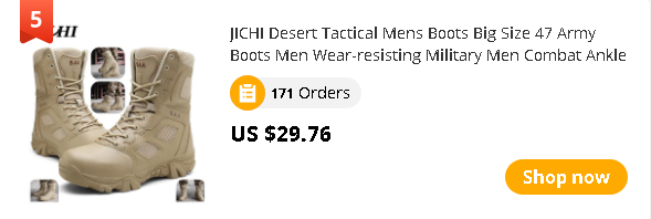 JICHI Desert Tactical Mens Boots Big Size 47 Army Boots Men Wear-resisting Military Men Combat Ankle Boots Outdoor Hiking 2020