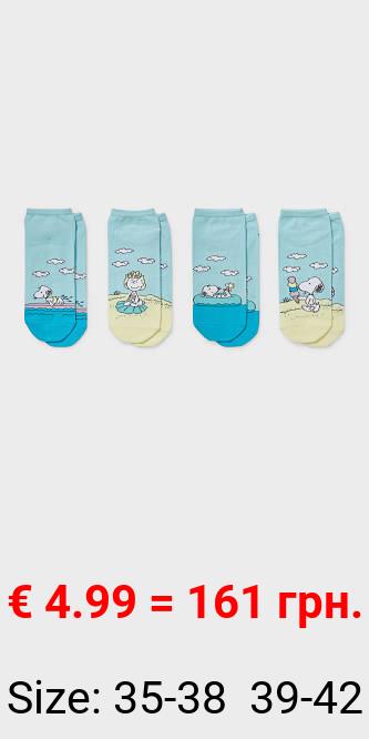 Multipack 4er - Sneakersocken - - Bio-Baumwolle - Peanuts