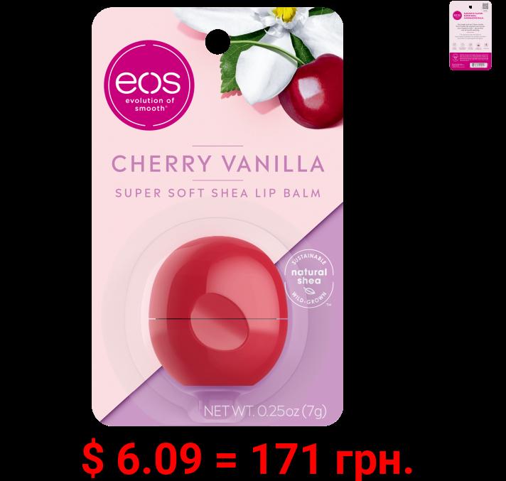 eos Super Soft Shea Lip Balm Sphere - Cherry Vanilla , Moisuturzing Shea Butter for Chapped Lips , 0.25 oz