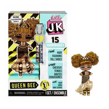 L.O.L. Surprise! JK Queen Bee Mini Fashion Doll with 15 Surprises