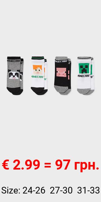 Multipack 4er - Minecraft - Sneakersocken