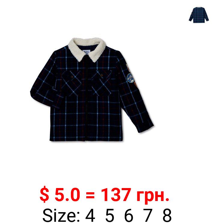 365 Kids From Garanimals Boys Faux Sherpa Collar Jacket, Sizes 4-10