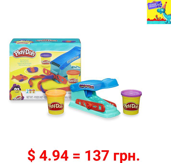 Play-Doh Basic Fun Factory Shape Making Machine, 2 Cans (4 oz total)