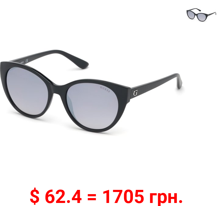 Guess Women's Mirrored Gu7594 GU7594-01C-54 Black Cat Eye Sunglasses