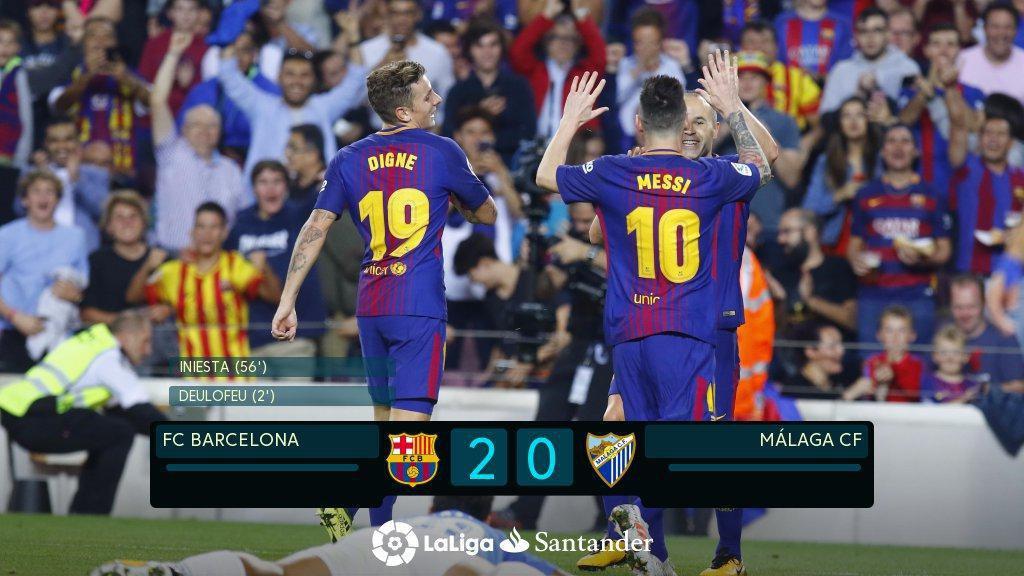 """""""FC BARCELONA"""" 2-0 """"MALAGA CF"""" ! ! !"""