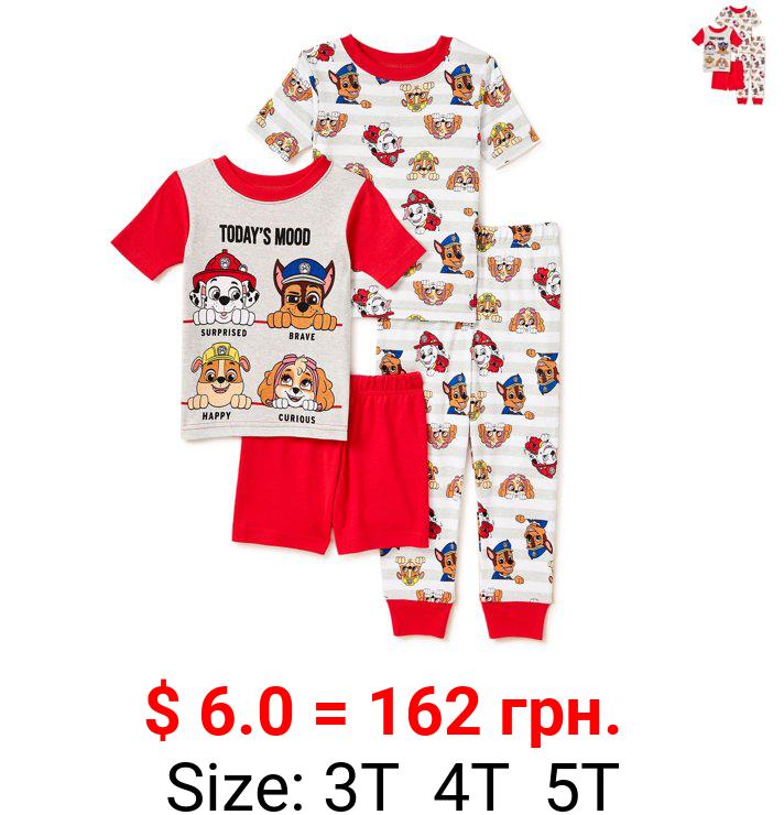 Paw Patrol Toddler Boys Loose Fit Short Sleeve Top & Shorts, 2-Piece Pajamas Set, Sizes 2T-5T