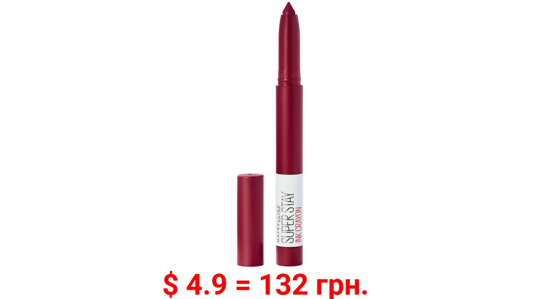 Maybelline SuperStay Ink Crayon Lipstick, Matte Longwear Lipstick Makeup, Make It Happen, 0.04 oz.