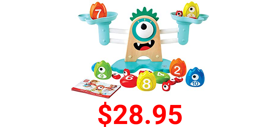Hape Math Monster Scale Toy, STEAM Toy, L: 15, W: 7.1, H: 5.6 inch