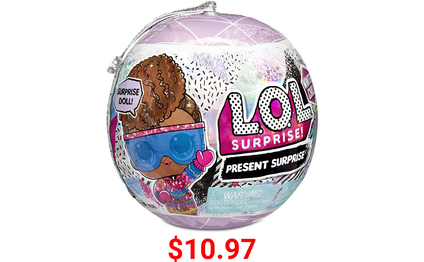 LOL Surprise Winter Chill Dolls with 8 Surprises Including Collectible Doll, Fashions, Doll Accessories, Holiday Ornament Reusable Packaging – Great Gift for Girls Ages 4+