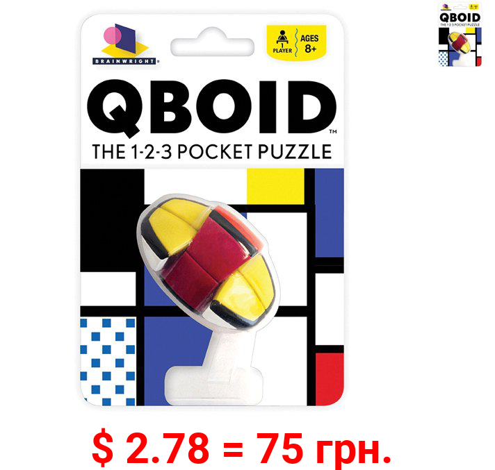 QBOID BRAINTEASER - Brainwright - The 1-2-3 Pocket Puzzle