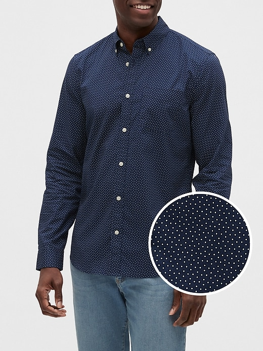 Poplin Long-Sleeve Shirt in Slim Fit