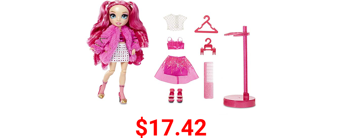 Rainbow High Stella Monroe – Fuchsia (Hot Pink) Fashion Doll with 2 Doll Outfits to Mix & Match and Doll Accessories, Great Gifts for Kids 6-12 Years Old