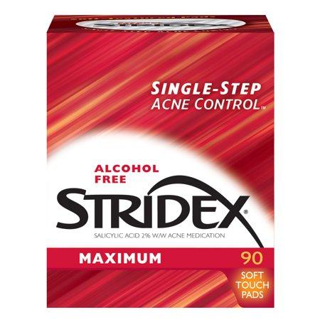 (2 pack) Stridex Maximum, Acne Medication Pads, 2% Salicylic Acid, 90 Count