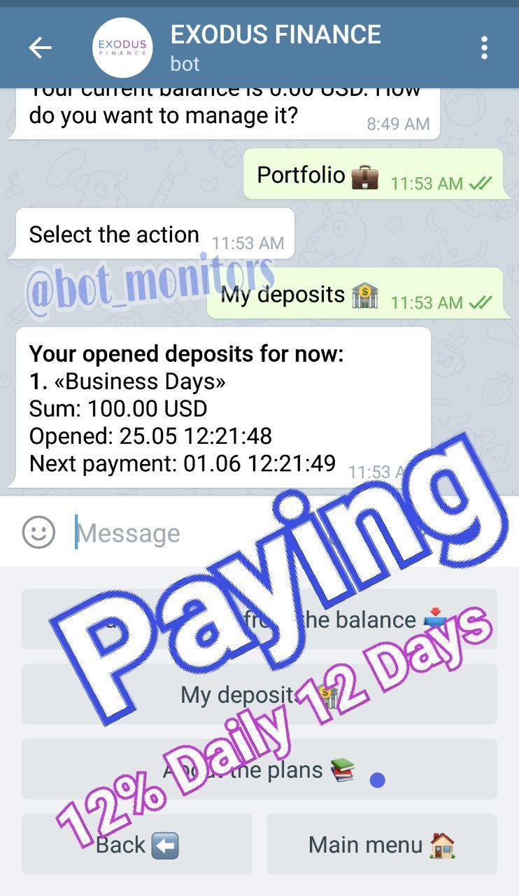 EXODUS_FINANCE - Telegram Trends