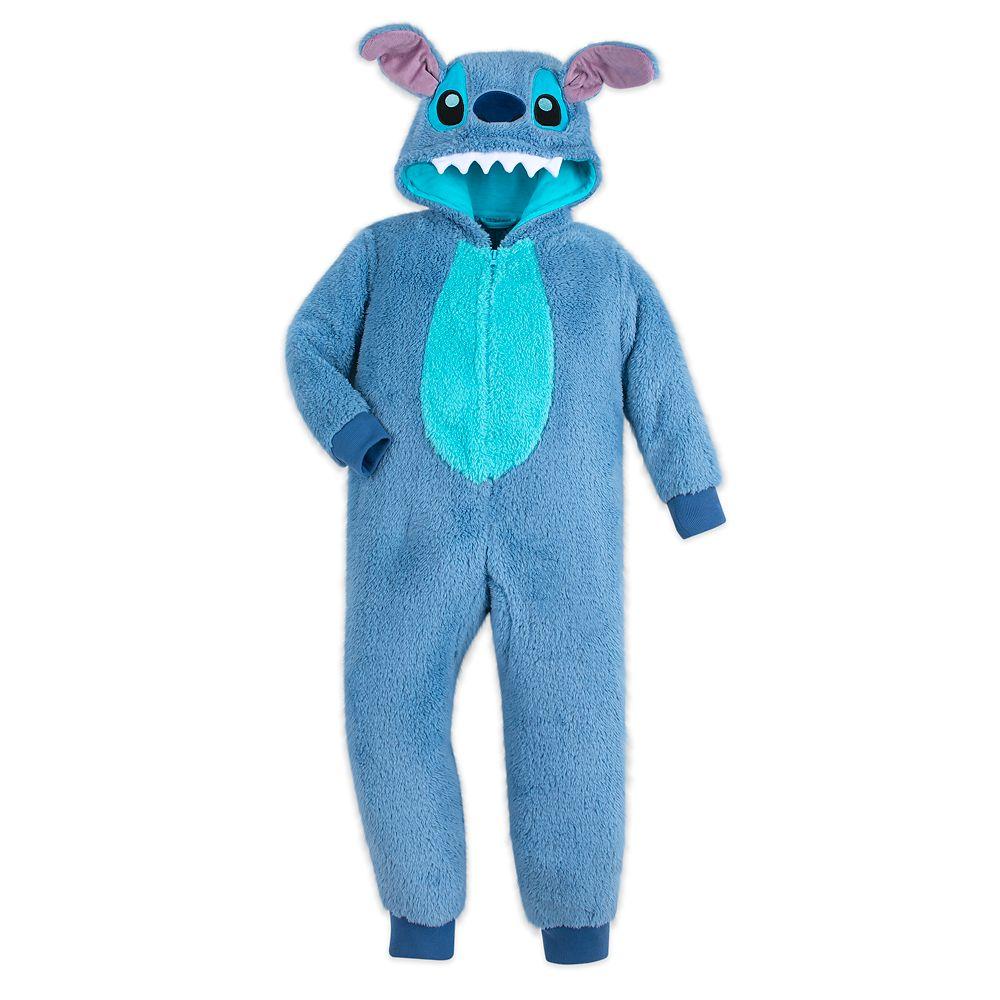 Stitch Fleece Bodysuit Pajamas for Kids