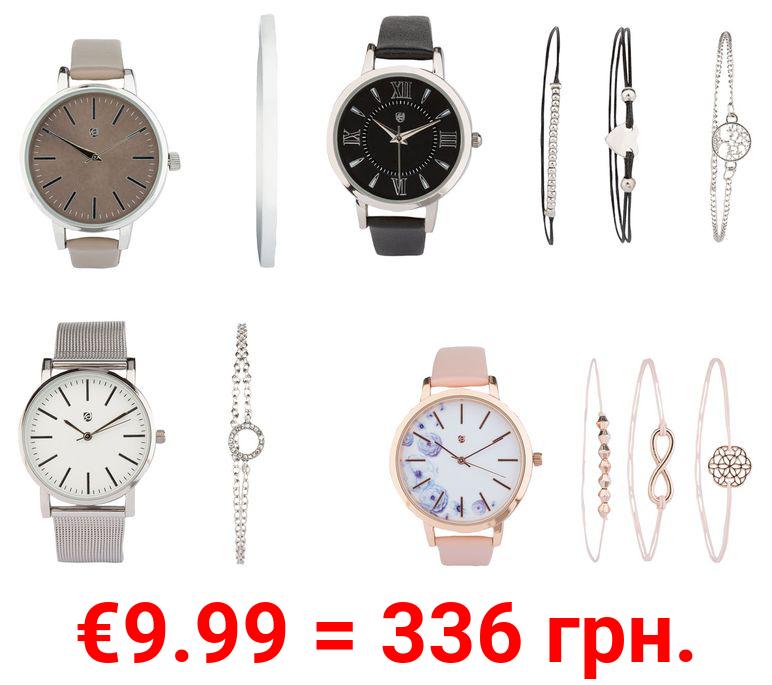 AURIOL® Armbanduhren Damen, Schmuckarmband Geschenkset