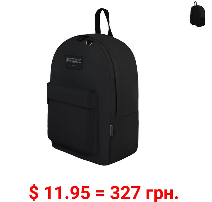 East West U.S.A. Simple Backpack Black