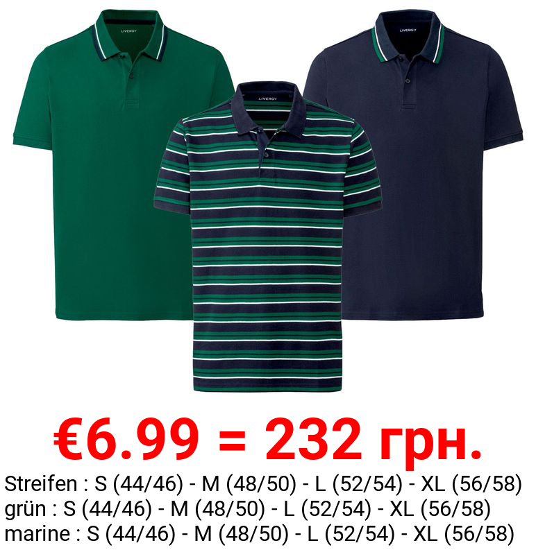 LIVERGY® Poloshirt Herren, Regular Fit