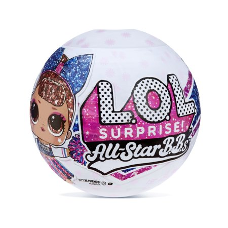 L.O.L. Surprise! All-Star B.B.s Sports Series 2 Cheer Team Sparkly Dolls with 8 Surprises