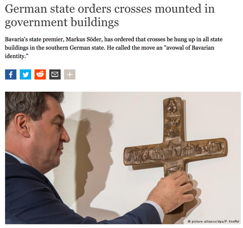 Bavaria Says Its Mandatory Crosses Arent Religious So There Should Be No Problem Hanging Them Upside Down Right
