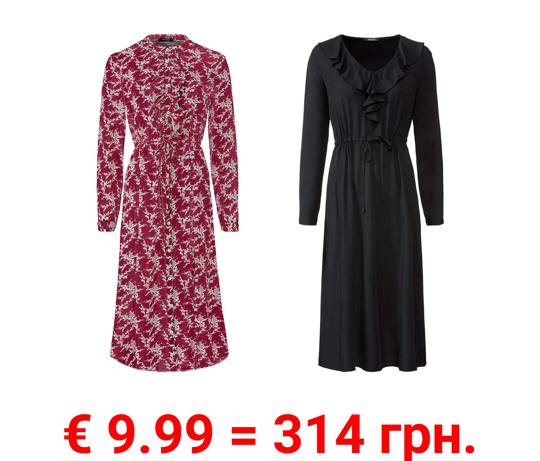 ESMARA® Damen Kleid, inmodischer Midi-Länge