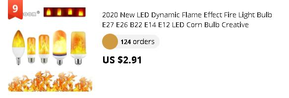2020 New LED Dynamic Flame Effect Fire Light Bulb E27 E26 B22 E14 E12 LED Corn Bulb Creative Flickering Emulation 3W 5W 7W 9W