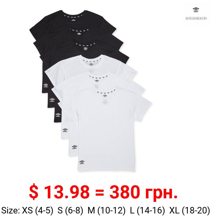 Umbro Boys Undershirts, 6 Pack Crew Neck Undershirts Sizes 4 - 20