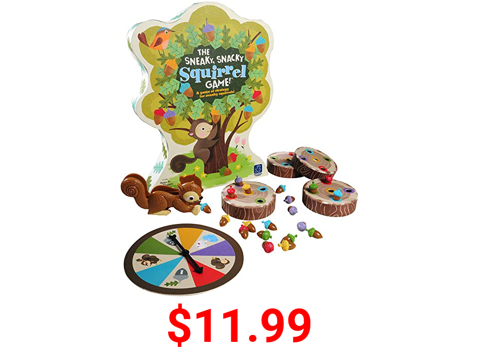 Educational Insights The Sneaky, Snacky Squirrel Game for Preschoolers & Toddlers, for Boys & Girls, Ages 3+