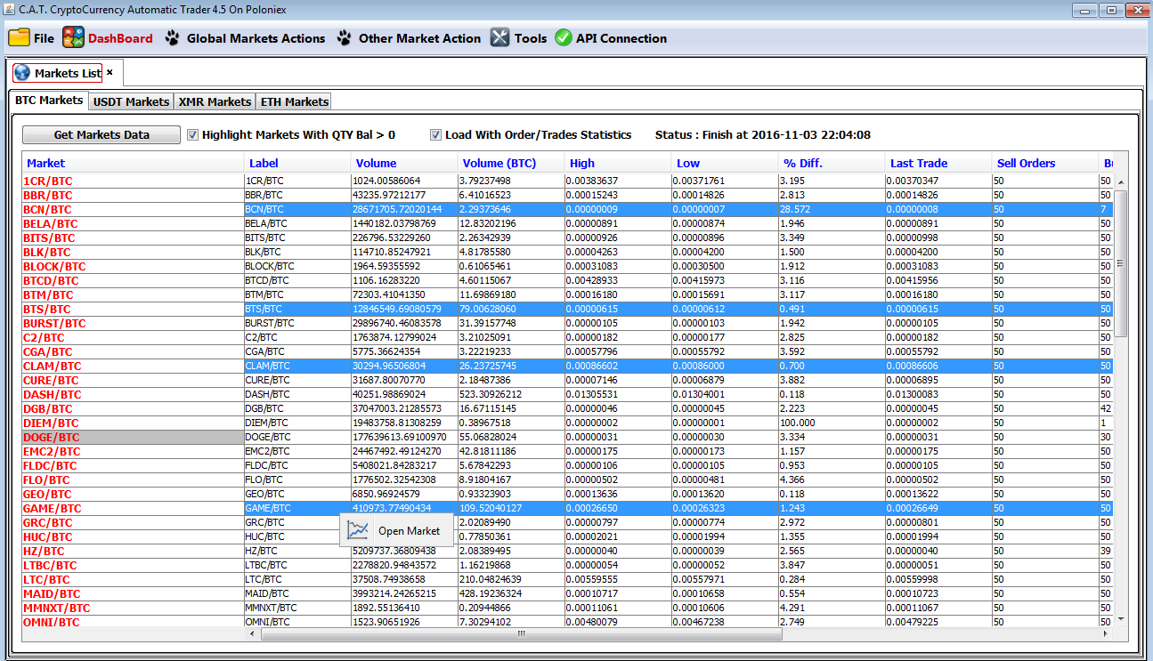 BOT] The Crypto Harvester trading platform 20+ API  GREAT GUI  FAST