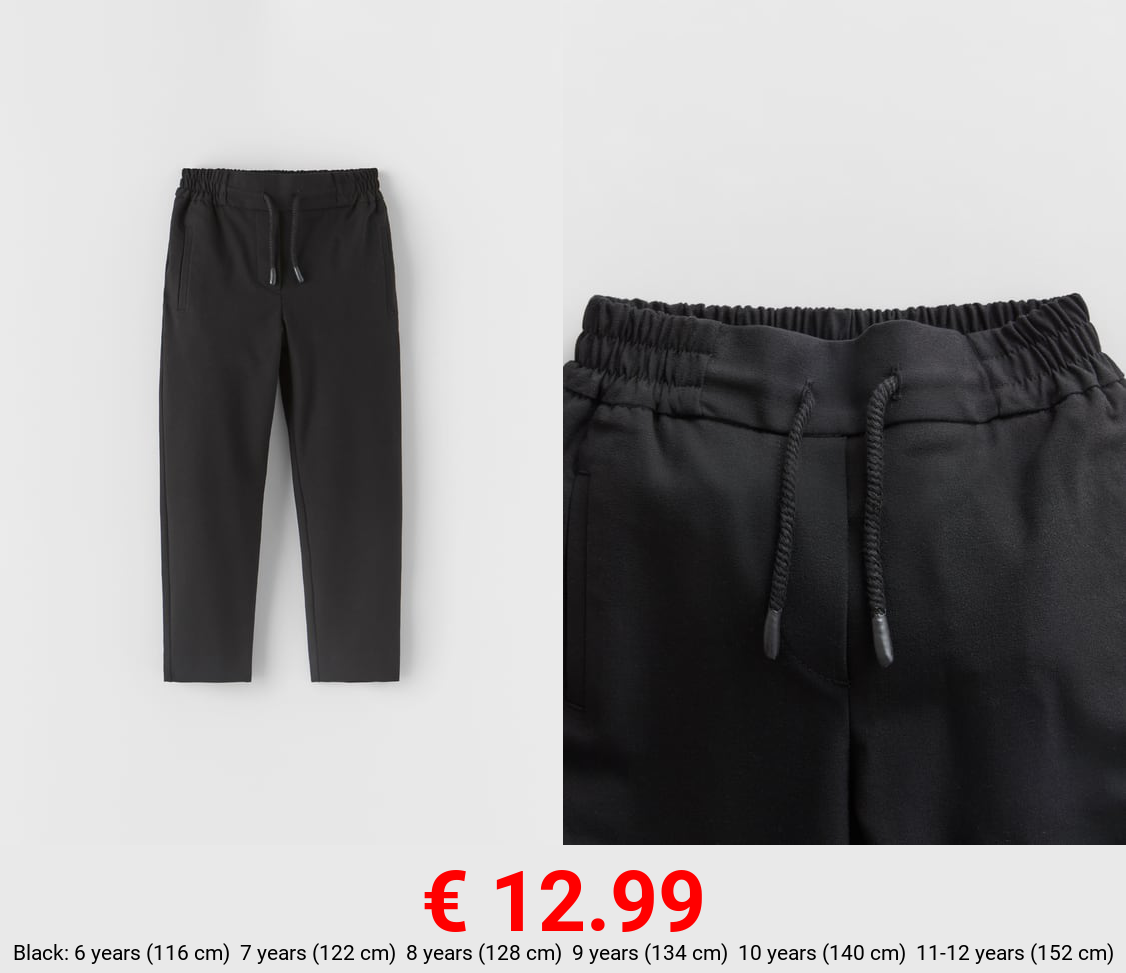 STRAIGHT FIT SPORTY TROUSERS