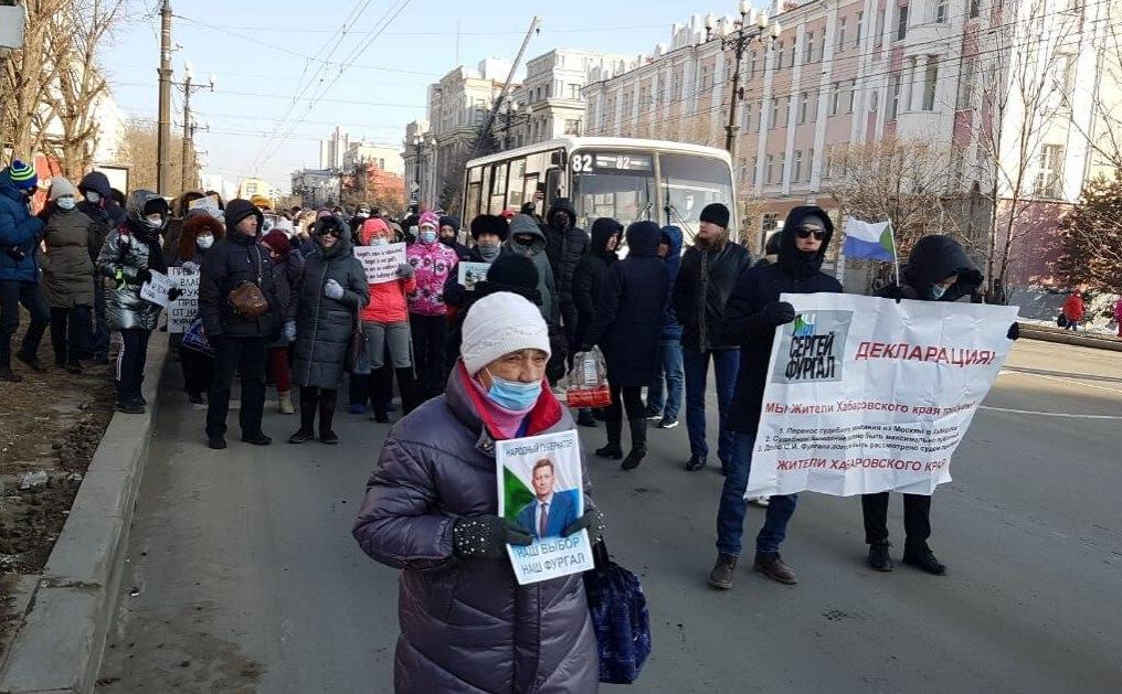 ВХабаровске арестовали на10суток одного из протестующих