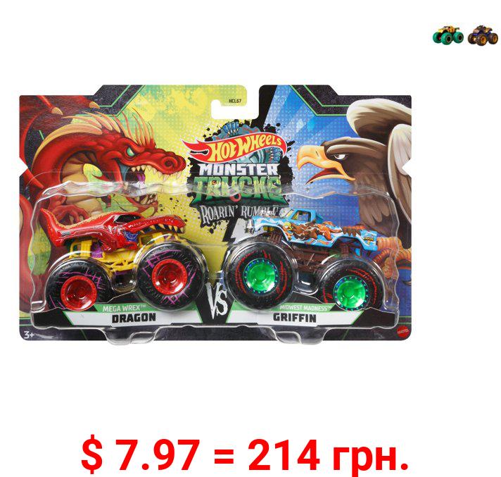 Hot Wheels Monster Trucks Roarin' Rumble 2-Pack (Styles May Vary)