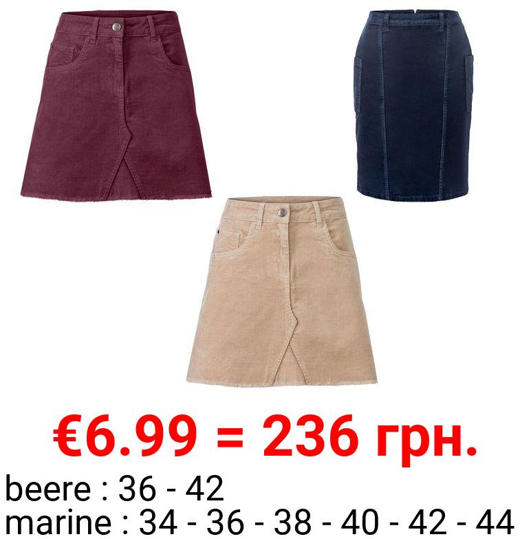 ESMARA® Rock Damen, in Cord-Qualität, mit Baumwolle