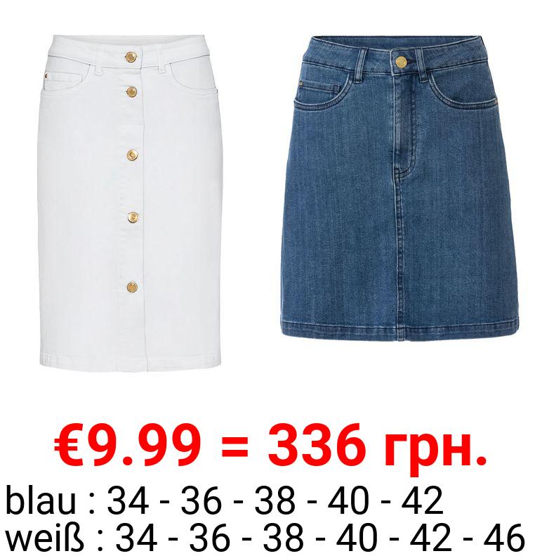 ESMARA® Jeansrock Damen, mit Eingrifftaschen