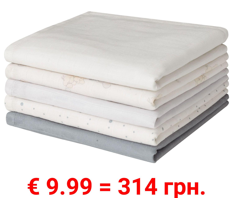 LUPILU® Baby Multitücher, 5 Stück, aus reiner Baumwolle