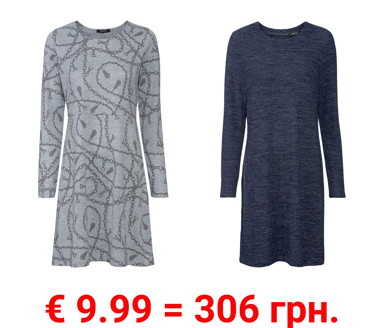 ESMARA® Damen Kleid, mitweitem Rundhalsausschnitt