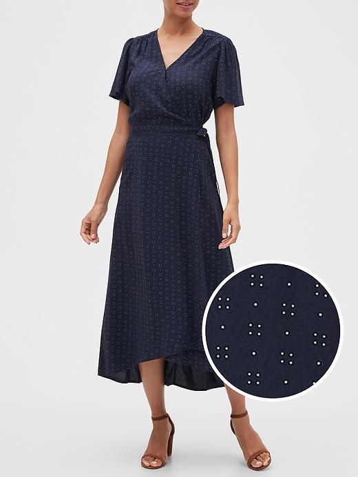 Wrap Midi Dress in Rayon