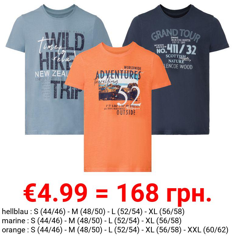 LIVERGY® T-Shirt Herren, körpernah geschnitten