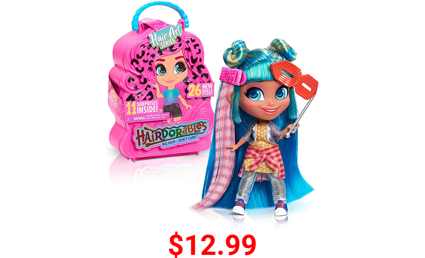 Hairdorables Collectible Doll Hair Art Series 5, styles and case colors may vary, each sold separately, by Just Play