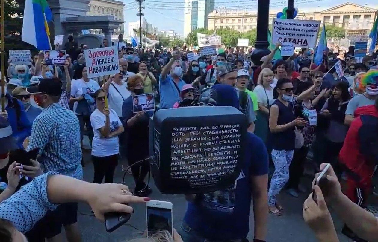 1000 человек насчитала Администрация Хабаровска на несанкционированном митинге