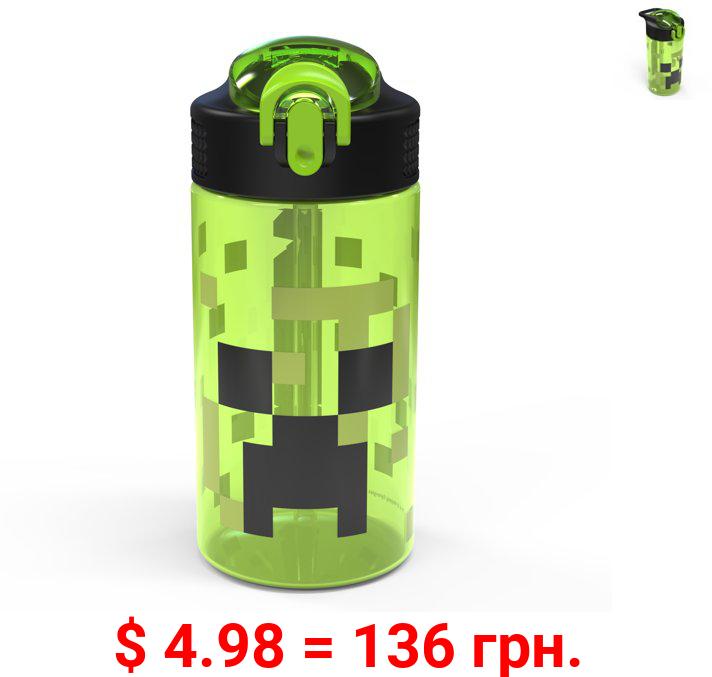 Zak Designs Minecraft 16 ounce Water Bottle, Creeper