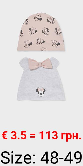 Multipack 2er - Minnie Maus - Baby-Mütze - Bio-Baumwolle