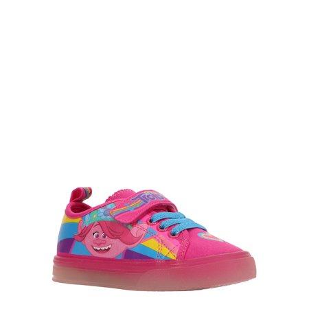 Dreamworks Trolls Poppy Light-Up Canvas Low-Top Sneaker (Toddler Girls)