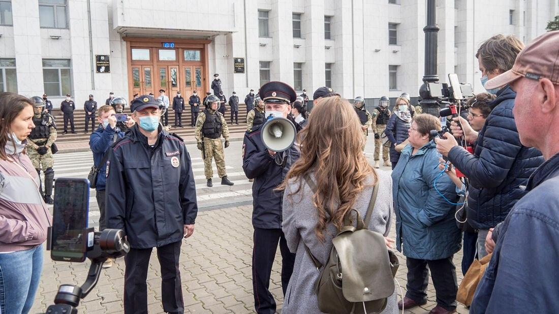 Хабаровчанку оштрафовали на10тысяч за участии в несогласованной акции