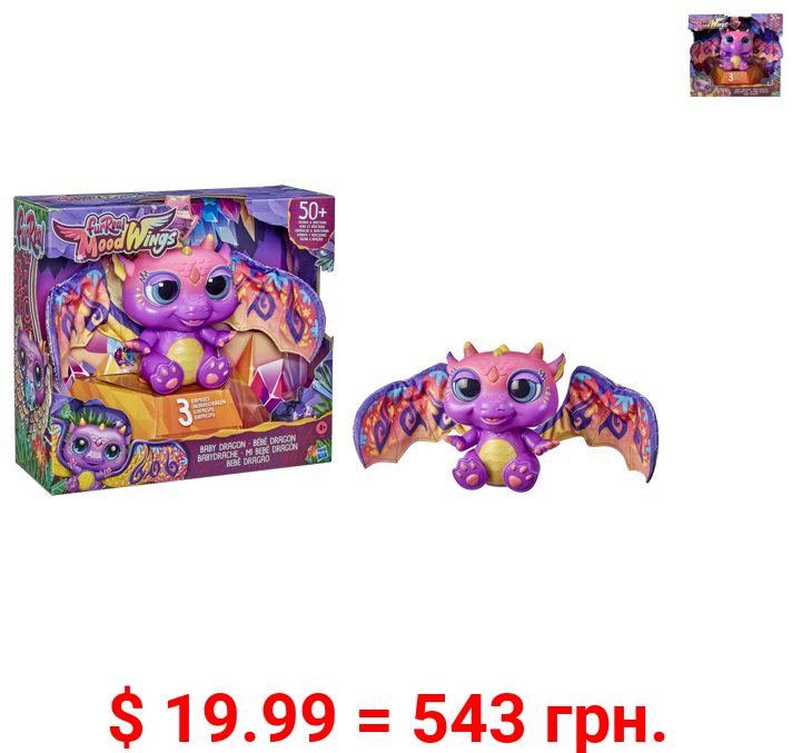 furReal Moodwings Baby Dragon Interactive Pet, Includes 50+ Sounds & Reactions