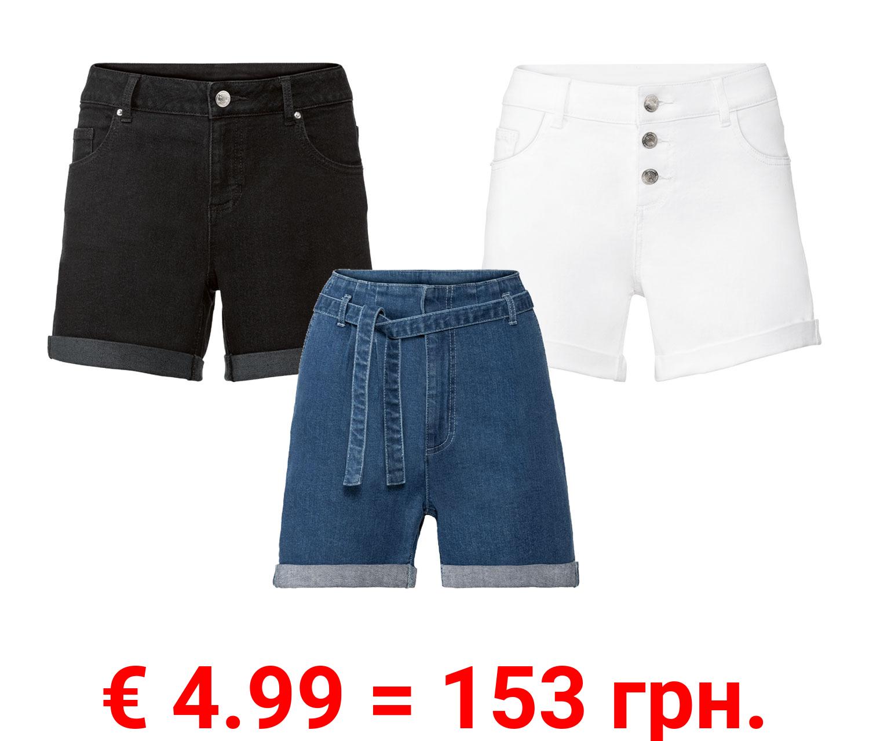 ESMARA® Damen Jeansshorts, in Krempeloptik
